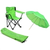 Redmon Beach Baby® Kids Camp Chair with Carry Umbrella and matching tote bag, Lime Green