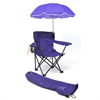Redmon Beach Baby® Kids Camp Chair with Carry Umbrella and matching tote bag, Purple