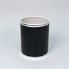 Bath Jewelry Diamond Pattern Round Vinyl Wastebasket, Black/Silver
