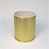 Bath Jewelry Diamond Pattern Round Vinyl Wastebasket, Gold/Gold