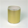 Bath Jewelry Diamond Pattern Round Vinyl Wastebasket, Gold/Silver