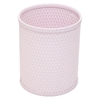 Chelsea Collection Decorator Color Round Wicker Wastebasket, Crystal Pink