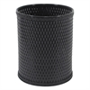 Chelsea Collection Decorator Color Round Wicker Wastebasket, ESPRESSO