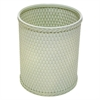 Redmon Chelsea Collection Decorator Color Round Wicker Wastebasket, Herbal Green