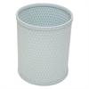 Redmon Chelsea Collection Decorator Color Round Wicker Wastebasket, Illusion Blue