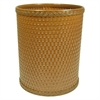 Redmon Chelsea Collection Decorator Color Round Wicker Wastebasket, Nutmeg