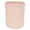 Redmon Chelsea Collection Decorator Color Round Wicker Wastebasket, Tea Rose