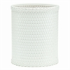 Chelsea Collection Decorator Color Round Wicker Wastebasket, White