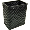 Redmon Elegante Collection Decorator Color Wicker Wastebasket, Black
