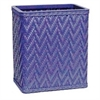 Redmon Elegante Collection Decorator Color Wicker Wastebasket, Coastal Blue