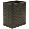 Redmon Elegante Collection Decorator Color Wicker Wastebasket, ESPRESSO