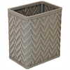 Redmon Elegante Collection Decorator Color Wicker Wastebasket, Mocha