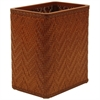 Redmon Elegante Collection Decorator Color Wicker Wastebasket, Nutmeg