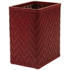 Elegante Collection Decorator Color Wicker Wastebasket, Raspberry
