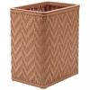 Redmon Elegante Collection Decorator Color Wicker Wastebasket, Tea Rose