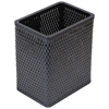 Redmon Chelsea Collection Decorator Color Square Wicker Wastebasket, Black