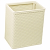 Redmon Chelsea Collection Decorator Color Square Wicker Wastebasket, Cream