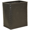Redmon Chelsea Collection Decorator Color Square Wicker Wastebasket, ESPRESSO
