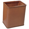 Redmon Chelsea Collection Decorator Color Square Wicker Wastebasket, Nutmeg
