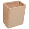 Redmon Chelsea Collection Decorator Color Square Wicker Wastebasket, Tea Rose