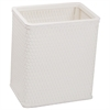 Chelsea Collection Decorator Color Square Wicker Wastebasket, White
