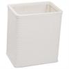 Redmon Chelsea Collection Decorator Color Square Wicker Wastebasket, White