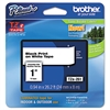 "Brother P-Touch TZe Standard Adhesive Laminated Labeling Tape, 1""w, Black on White"