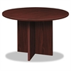 basyx BL Laminate Series Round Conference Table, 48 dia. X 29 1/2h, Mahogany