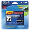 "Brother P-Touch TZe Standard Adhesive Laminated Labeling Tapes, 1/2""w, Black on Clear, 2/Pack"