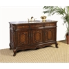 "60"" Sink Vanity - No Faucet, Antique Brown"