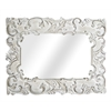 "Legion furniture Resin 20.9""X34.3"" Mirror Overall 33.9""X43.7"", Antique White"