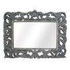 "Legion furniture Resin 37.8""X22.4"" Mirror Overall 55.1""X40.9"", Antique Grey"
