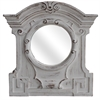 "Resin 15.7""X15.7"" Mirror Overall 33.9""X32.3"", Antique White"
