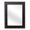 "Wood 20""X28"" Mirror Overall 35.4""X27.6, Antique Dark Cherry"
