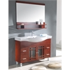 """48"""" Sink Chest - Solid Wood - No Faucet, Cherry Brown"""