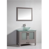 """Legion furniture 36"""" Solid Wood Sink Vanity With Mirror And Faucet, Light Gray"""