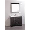 "Legion furniture 39"" Solid Wood Sink Vanity With Mirror-No Faucet, Espresso"