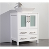 "Legion furniture 24"" Solid Wood Sink Vanity With Mirror-No Faucet, White"