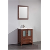 "24"" Solid Wood Sink Vanity With Mirror-No Faucet, Cherry"