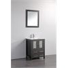 """24"""" Solid Wood Sink Vanity With Mirror-No Faucet, Espresso"""