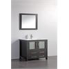 """36"""" Solid Wood Sink Vanity With Mirror-No Faucet, Espresso"""
