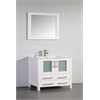 "Legion furniture 36"" Solid Wood Sink Vanity With Mirror-No Faucet, White"