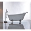 "69"" White Acrylic Tub - No Faucet, White"