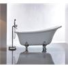 """69"""" White Acrylic Tub - No Faucet, White"""