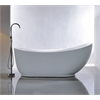 "71"" White Acrylic Tub - No Faucet, White"