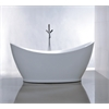 "67.3"" White Acrylic Tub - No Faucet, White"