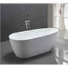 """68"""" White Acrylic Tub - No Faucet, White"""