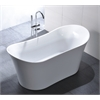"Legion furniture 67"" White Acrylic Tub - No Faucet, White"