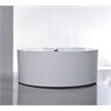 """59"""" White Acrylic Tub - No Faucet, White"""