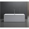 """Legion furniture 67"""" White Acrylic Tub - No Faucet, White"""
